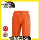 【The North Face 美國 男 SCafe短褲《木瓜橘》】CZL1/運動短褲/透氣/彈性