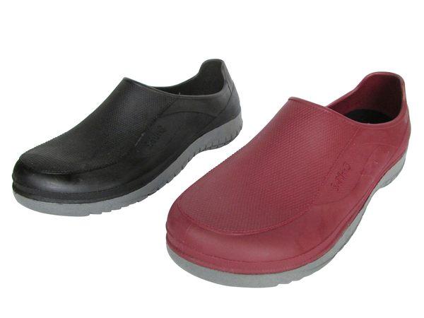 『雙惠鞋櫃』★三和牌★女士款 雙色防水鞋★廚師鞋★ (RH162W) 紅、黑