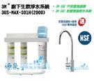 3M 3US-MAX-S01H生飲淨水系統 ★搭3M SQC PP過濾+樹脂系統+腳架 ★過濾環境賀爾蒙(雙酚A、壬基酚)