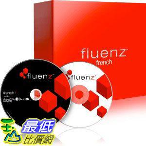 [美國直購 ShopUSA] Fluenz Version F2: French 1 (Win/Mac) with software DVD, audio CD, podcasts, and Navigator.  $7815