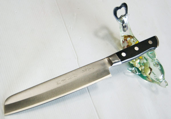郭常喜與興達刀鋪-水果刀-圓頭銀鋼鍛柄(A00207) 家庭主婦不可或缺的好幫手