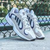 ISNEAKERS Adidas Originals Yung-1 復古 老爹鞋 灰藍 G27031