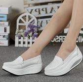 護士鞋2020搖搖鞋女鞋春夏護士鞋白色坡跟軟底厚底鬆糕鞋旅游鞋單鞋黑色 衣間迷你屋