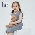Gap女幼童 雅致純棉無袖洋裝 697795-灰藍色
