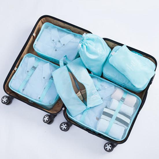 輕旅行收納七件組 290D 收納 分裝  整理袋 多功能 分隔 便攜  整理 分類【N426】慢思行