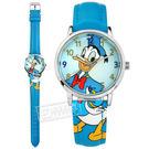 Disney 迪士尼 / MK-14107L / 米奇系列 唐老鴨 日本機芯 兒童錶 卡通錶 皮革手錶 藍色 32mm