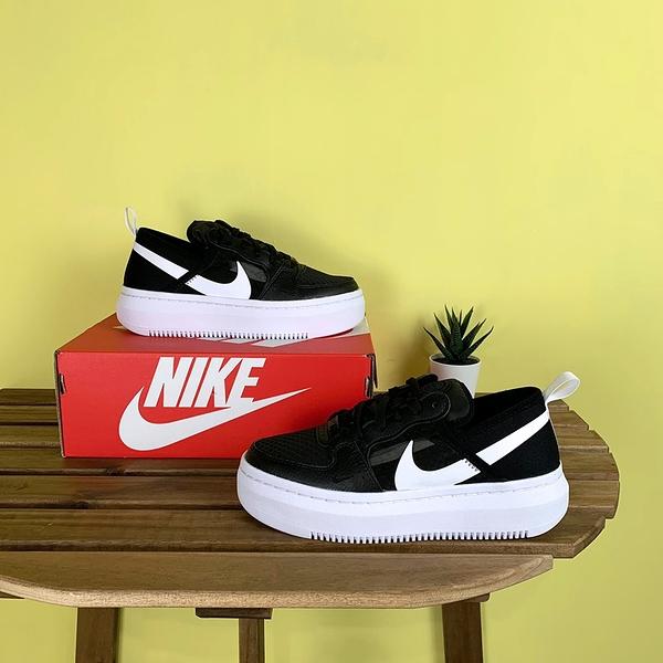 NIKE COURT VISION ALTA TXT 黑 女 增高 厚底 基本 簡約 小鋸齒 休閒鞋 CW6536001