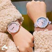 手錶 清新手表原宿風軟妹少女心粉嫩馬卡龍色簡約學生腕表 潮流小鋪