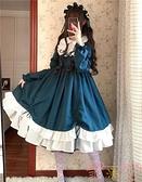秋冬Lolita洛麗塔蘿莉大裙擺可愛長袖連身裙【聚可愛】