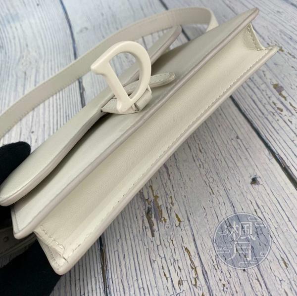 BRAND楓月 Christian Dior 迪奧 S5619 白馬鞍 皮革 皮質 腰包 側背包 手拿包