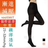 23~32mmHg 夏季輕薄款 超柔透氣壓力褲襪 中壓