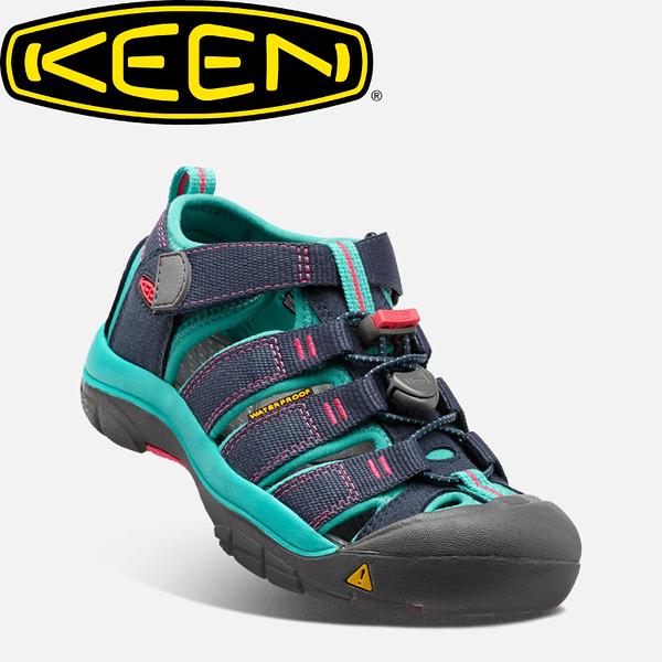 【KEEN 美國 兒童 護趾涼鞋《深藍/土耳其藍》】1012316/水陸兩用鞋/休閒涼鞋/兒童涼鞋