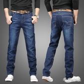 夏季休閒直筒寬鬆大碼常規男士牛仔褲修身潮流大碼薄款長褲LXY7168『毛菇小象』