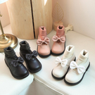 女童靴子2019秋季新款二三歲公主皮鞋秋冬小短靴針織二棉寶寶鞋子