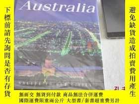 二手書博民逛書店1985年,原版精裝畫冊,鳥瞰澳洲,above罕見austral