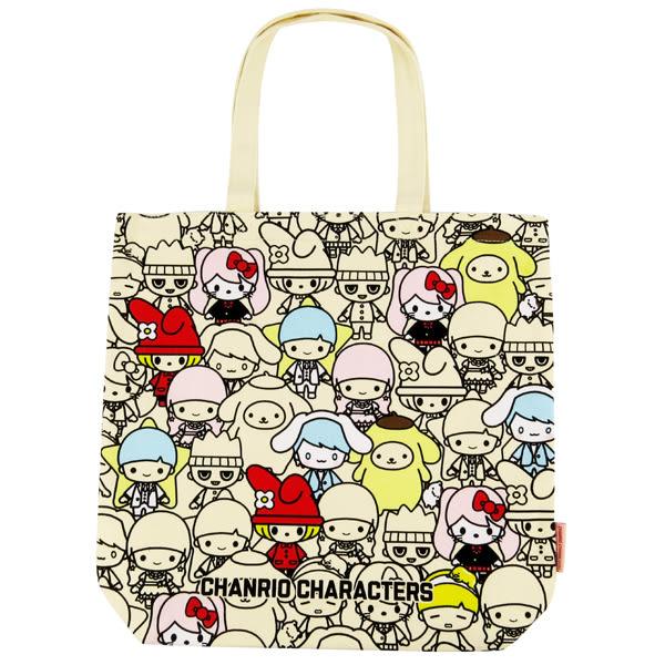 三麗鷗側背包 滿版Sanrio大集合帆布實用側肩背袋/手提袋/帆布袋 [喜愛屋]