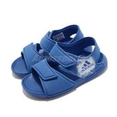 adidas 涼拖鞋 AltaSwim C 藍 童鞋 中童鞋 魔鬼氈 【PUMP306】 BA9289
