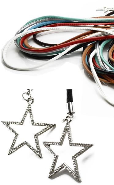 腰繩皮帶 素色 金屬 星星 鑲鑽 掛墜 綁帶 百搭 腰繩 腰帶