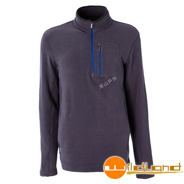 Wildland 荒野 0A52502-95鐵灰色 男彈性PILE保暖衣 輕量/爬山健行休閒衫/保暖衣