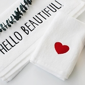 擦身方巾洗臉面巾吸水全棉刺繡家用純棉毛巾【聚寶屋】