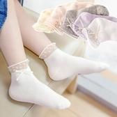 兒童襪 日繫兒童花邊襪女童夏季薄款網眼純棉透氣蕾絲公主舞蹈襪寶寶襪子 【童趣屋】
