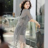韓國分體泳衣女三件套比基尼小香風罩衫平角小胸聚攏泡溫泉游泳衣      柠檬衣舍