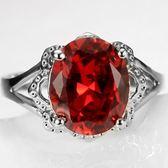 水晶戒指 925純銀-歐美時尚大方尊貴生日情人節禮物女飾品73lj379【時尚巴黎】