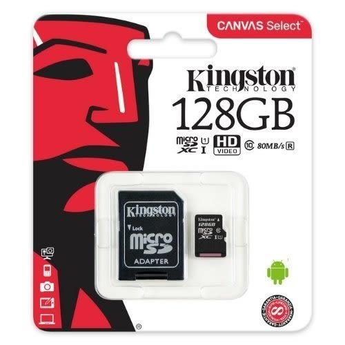 金士頓 記憶卡 【SDCS/128GB】 128GB Micro-SD C10 U1 讀80MB/s 新風尚潮流