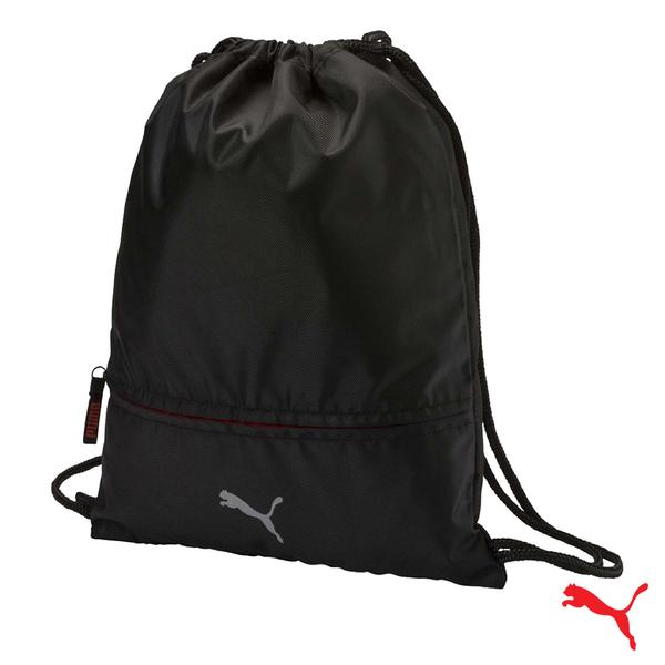 Puma Golf 防潑水束口尼龍運動後背包 衣物包 鞋袋 黑 075030 01