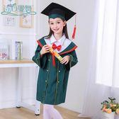 幼兒園畢業服 博士服兒童幼兒園畢業禮服學士拍照服裝中小學生舞蹈演出錶演服帽 珍妮寶貝