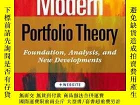 二手書博民逛書店Modern罕見Portfolio Theory + Website: Foundations Analysis