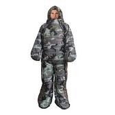 睡袋(單人)快速收納-人形保暖防踢被時尚迷彩登山用品2色71q18【時尚巴黎】