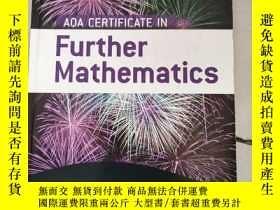 二手書博民逛書店AQA罕見Certificate in Further Mathematics[在進一步的數學AQA認證】原版 庫