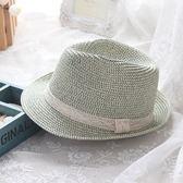 草帽-防曬夏季戶外出遊個性女爵士帽73rp136【時尚巴黎】