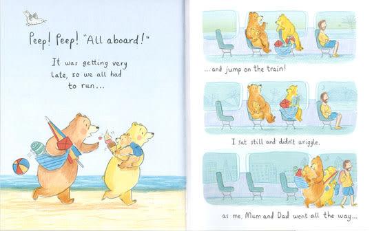 BEARS AT THE BEACH / 英文繪本《主題: 勇敢.溫馨》
