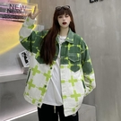 夾克外套 秋裝2021年新款ins小眾設計撞色工裝夾克寬鬆百搭牛仔外套女春秋