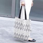 側背包 蕾絲 鏤空 清新 手提包 帆布包 環保購物袋-手提/單肩包