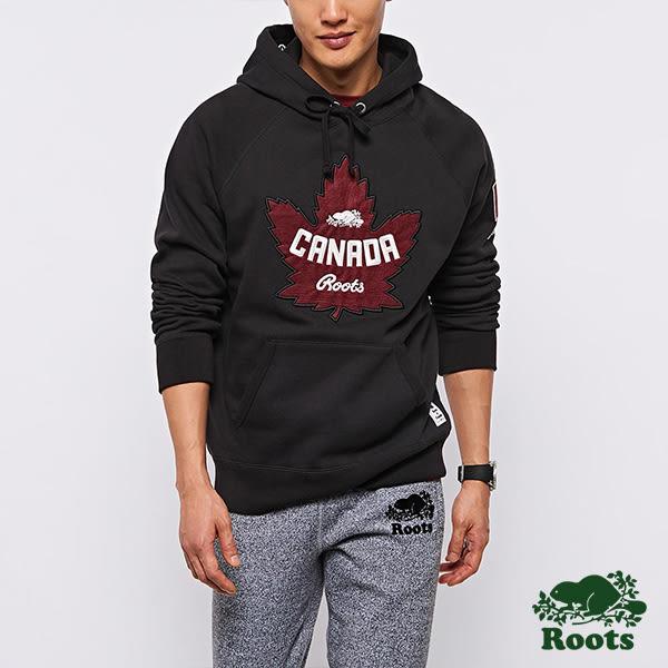 Roots 男裝 - 加拿大系列連帽上衣 - 黑色