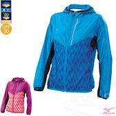 MIZUNO 美津濃 女路跑風衣(粉天藍) 抗紫外線 防潑水