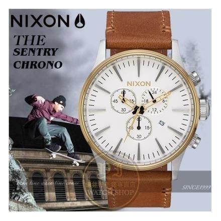 【南紡購物中心】NIXON 實體店THE SENTRY CHRONO潮流時尚腕錶A405-2548公司貨
