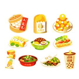 【收藏天地】台灣紀念品*貼紙備件包-小籠包