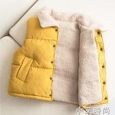 兒童羽絨棉馬甲秋冬季加厚外穿女童洋氣男童寶寶羊羔絨坎肩背心 小艾新品