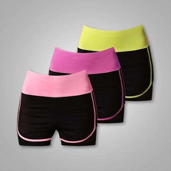 快速出貨 帝運動短褲女跑步速乾瑜伽短褲顯瘦寬鬆防走光健身運動褲