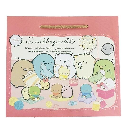 小禮堂 角落生物 橫式方形手提紙袋 禮物紙袋 包裝紙袋 禮品袋 (紅 玩偶) 4714551-88294