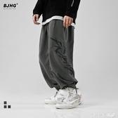 BJHG春季新款寬松嘻哈休閑闊腿蘿卜褲潮流男韓版街舞哈倫束腳褲子第一印象
