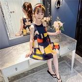 女童洋裝夏裝新款兒童裙子夏季中大童小女孩網紅公主裙洋氣