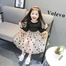 女寶寶春裝新品正韓女童連衣裙超洋氣小童公主裙春秋兒童裙子