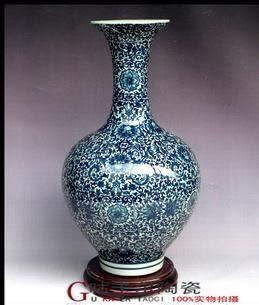景德鎮陶瓷器 青花瓷 花瓶