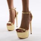 特惠 恨天高涼鞋18CM20公分細跟夜店魚嘴鞋性感超高跟韓國公主涼鞋40碼