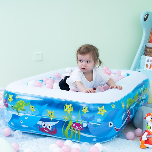 充氣泳池 兒童泳池加厚寶寶新生兒童大人家用洗澡桶家庭大號海洋球池【快速出貨八折下殺】